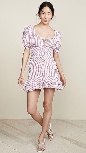 Jonathan Simkhai Puff Sleeve Mini Ruffle Dress