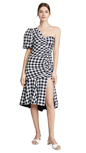 Jonathan Simkhai Lux Twill One Sleeve Dress
