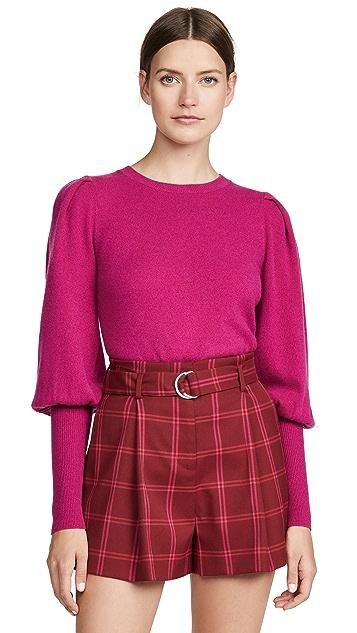 Jonathan Simkhai Puff Sleeve Cashmere Sweater