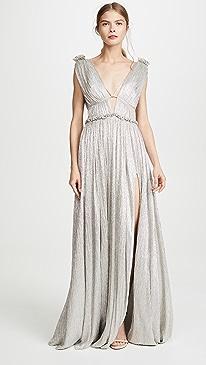 Open Neck Maxi Dress