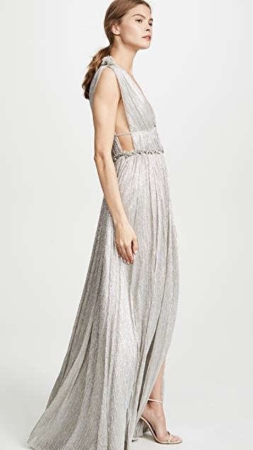 Jonathan Simkhai Open Neck Maxi Dress