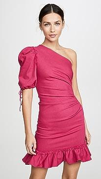 One Shoulder Denim Dress