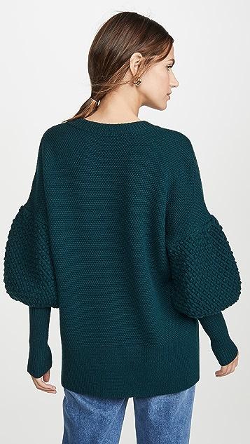 Jonathan Simkhai Lofty Wool Oversized Cardigan
