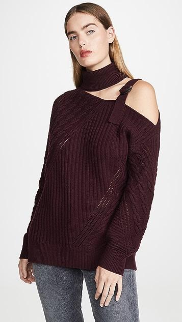 Jonathan Simkhai Асимметричный свитер из шерсти с ремешками