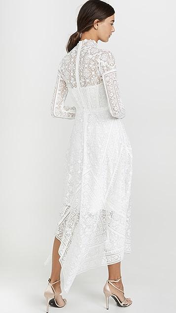 Jonathan Simkhai Платье-бюстье с вышитым остроугольным низом и шарфом