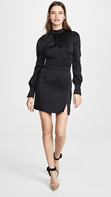 Jonathan Simkhai Платье из крепа с рукавами на пуговицах