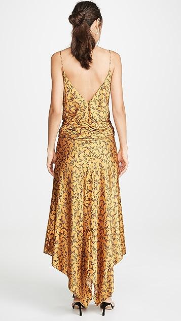 Jonathan Simkhai Платье из рельефного шелка