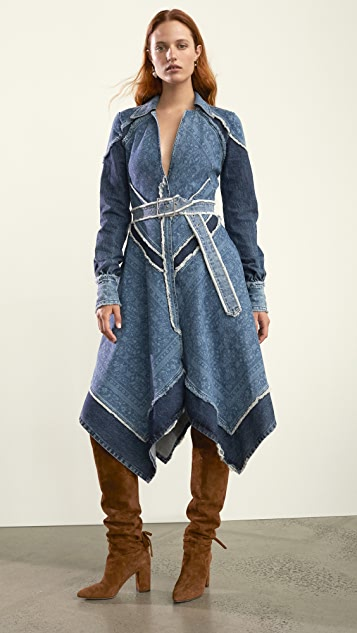 Jonathan Simkhai Denim Handkerchief Dress