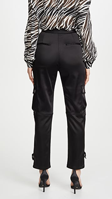 Jonathan Simkhai Structured Sateen Utility Pants