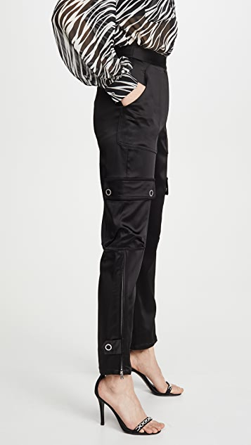 Jonathan Simkhai Структурированные практичные атласные брюки