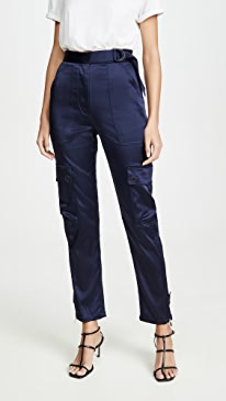 Structured Sateen Utility Pants