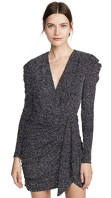 Jonathan Simkhai Блестящее мини-платье с глубоким V-образным вырезом из джерси
