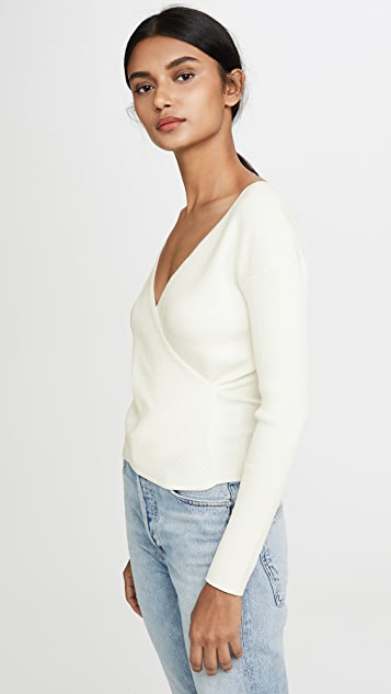Jonathan Simkhai Long Sleeve Wrap Top