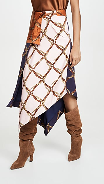 Jonathan Simkhai Skirts Saddle Print Handkercheif Skirt