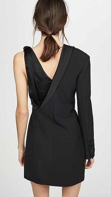 Jonathan Simkhai Luxe Satin Combo Suit Dress