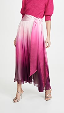 Ombre Chiffon Pleated Skirt