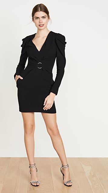Jonathan Simkhai Crepe Puff Sleeve Dress