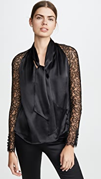 Silk Lace Wrap Top