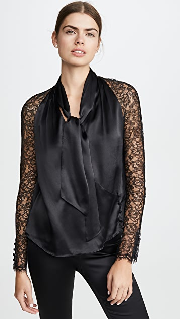 Jonathan Simkhai Tops Silk Lace Wrap Top