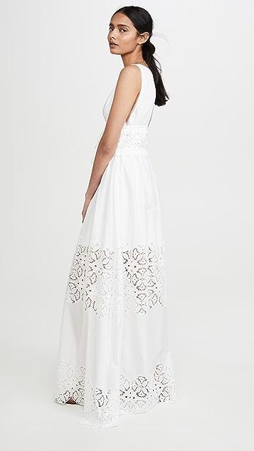 Jonathan Simkhai Платье Waverly со сборками и цветочным рисунком