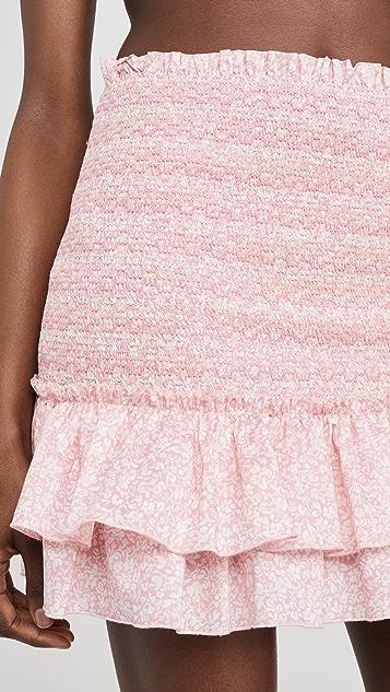 Jonathan Simkhai Sydney 花卉抽褶半身裙