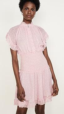 Serena Floral Crinkle Chiffon Dress