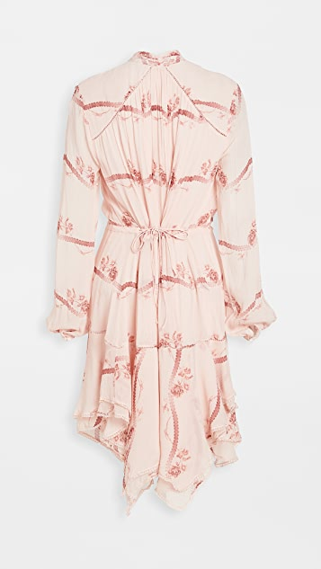Jonathan Simkhai Irena Rose Silk Dress
