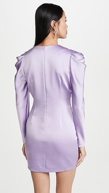 Jonathan Simkhai Атласное платье с объемными рукавами и спинкой из крепа