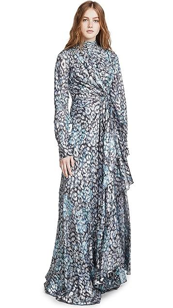 Jonathan Simkhai Металлизированное вечернее платье-халат