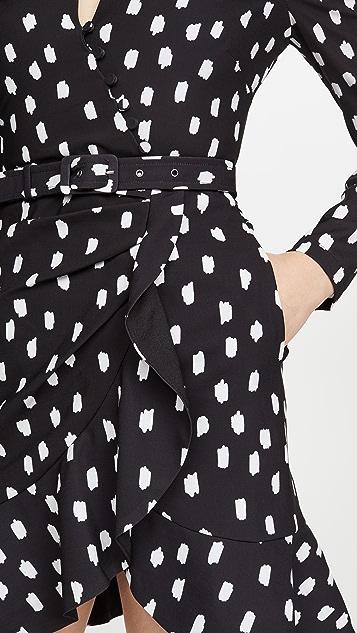 Jonathan Simkhai Polka Dot Belted Wrap Dress