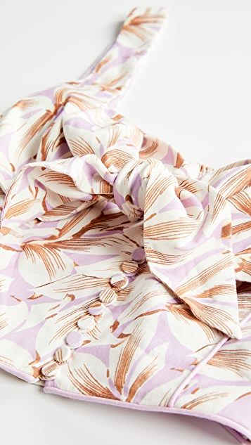 Jonathan Simkhai Layla Floral Linen Top