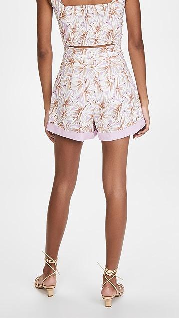 Jonathan Simkhai Lillian Floral Linen Shorts