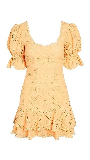 Jonathan Simkhai Meg Broderie Puff Sleeve Mini Dress