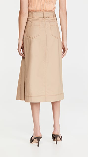 Jonathan Simkhai Malia Trench 裹身款式半身裙