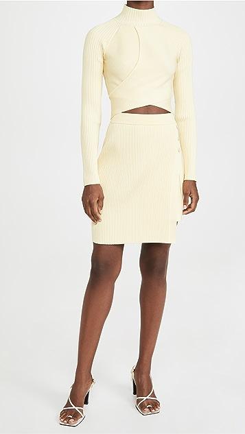 Jonathan Simkhai Emily Compact Cutout Skirt