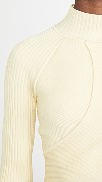 Jonathan Simkhai Camila Compact 镂空长袖上衣