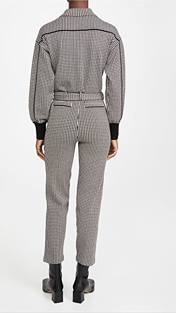 Jonathan Simkhai Annabelle Compact Knit Belted Jumpsuit