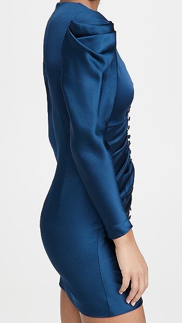 Jonathan Simkhai Parker Cocktail Long Sleeve Mini Dress