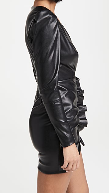 Jonathan Simkhai Catalina Vegan Leather Mini Dress