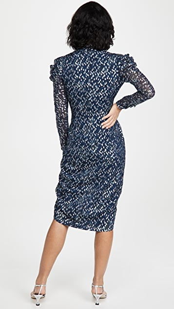 Jonathan Simkhai Reyna Long Sleeve Midi Dress