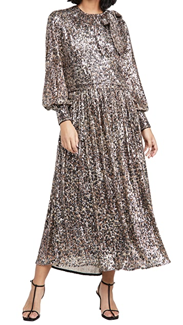 Jonathan Simkhai Casey Sequin Midi Dress