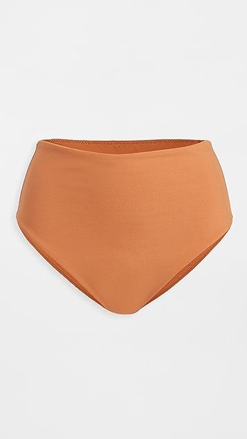 Jonathan Simkhai Cora Solid High Waisted Bikini Briefs