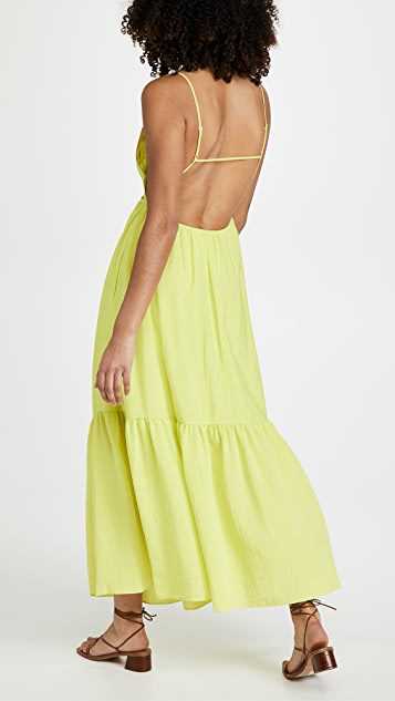 Jonathan Simkhai Calliope Solid Cutout Dress with Strap Detail