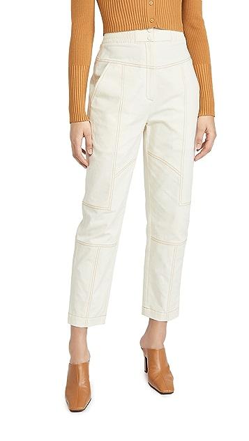 Jonathan Simkhai Celina Grasscloth Utility Pants