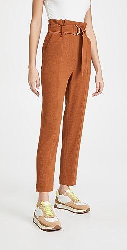 Jonathan Simkhai - Henny Textured Daywear Cropped Paperbag Pants