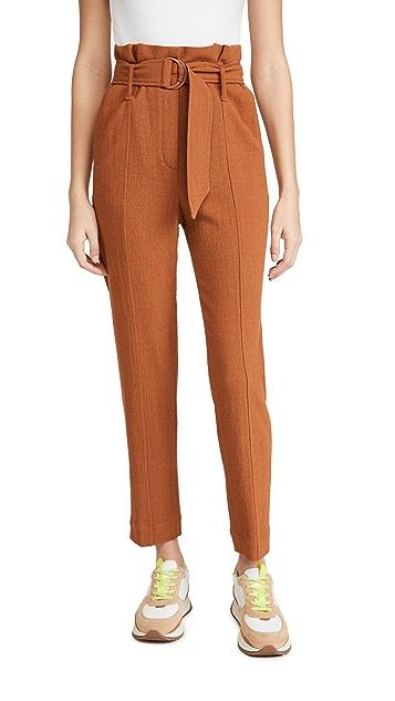 Jonathan Simkhai Henny Textured Daywear 纸包九分裤