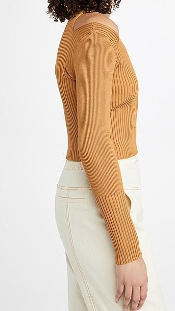 Jonathan Simkhai Jolie Cut Out Shoulder Cardigan