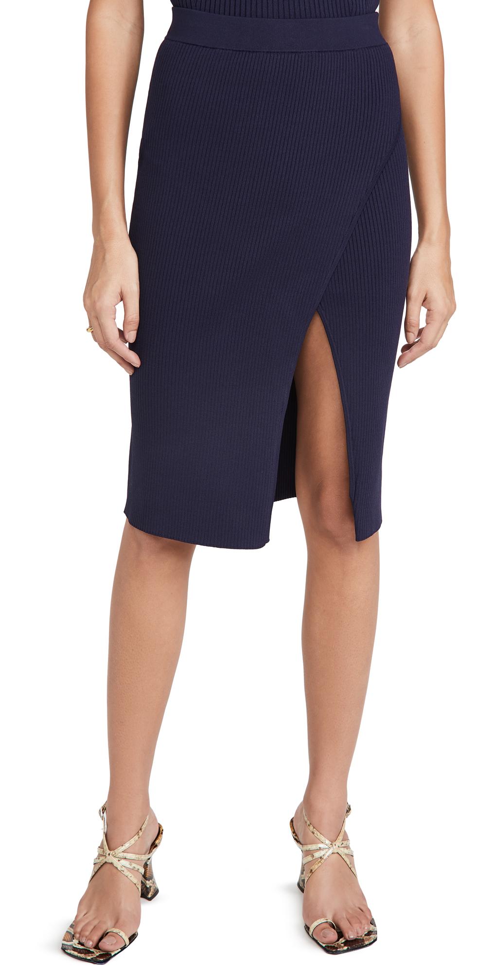 Jonathan Simkhai Deep Rip Wrap Skirt