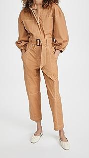 Jonathan Simkhai Annika 明缝实用泡泡袖连身衣