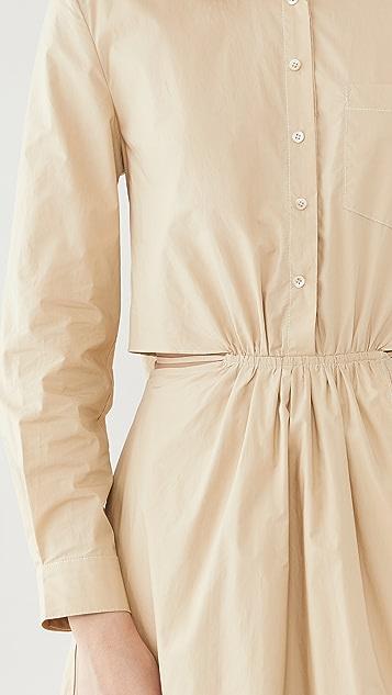 Jonathan Simkhai Shaelyn Solid Cutout Dress